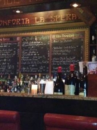 Antica Bottega del Vino : The wine bar at Bottega listing today's selections.
