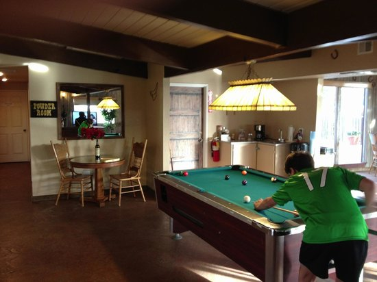 The Skyview Motel: The pool table