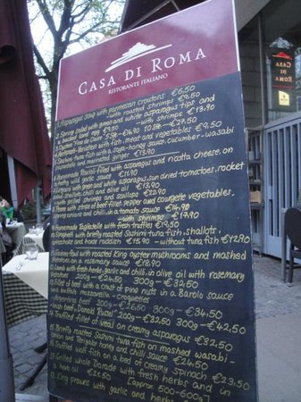 ARCOTEL Rubin: menu at casa di roma on lange reihe