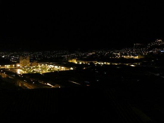 Hostal Casa del Inka: 屋上テラスからの眺め(夜)