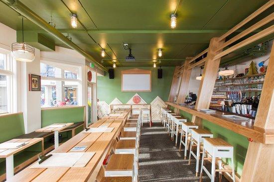 New Belgium Ranger Station Restaurant : Quiet before the storm