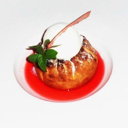 Mistral: Strawberry rhubarb crostada