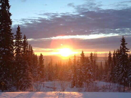 A Taste of Alaska Lodge: Sunrise view from the Lodge...Spectacular!!!