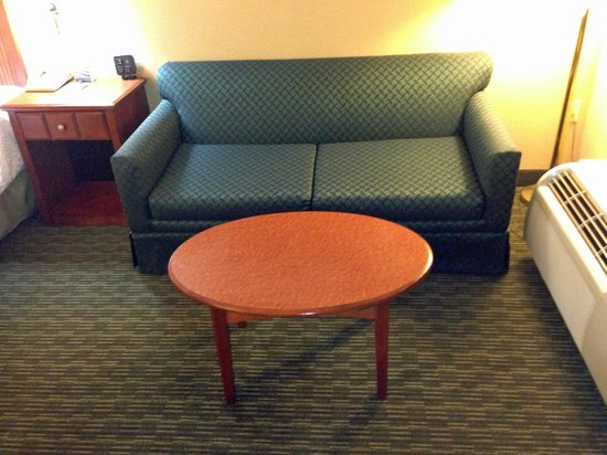 Econo Lodge: couch