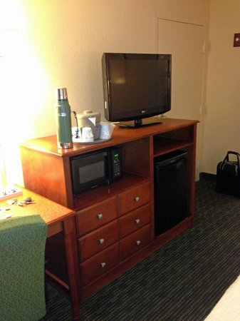 Econo Lodge: micro-tv-fridge