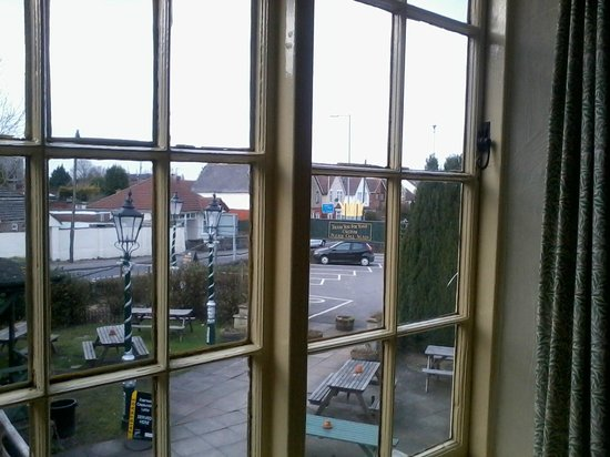The Crown Inn: View out of the window