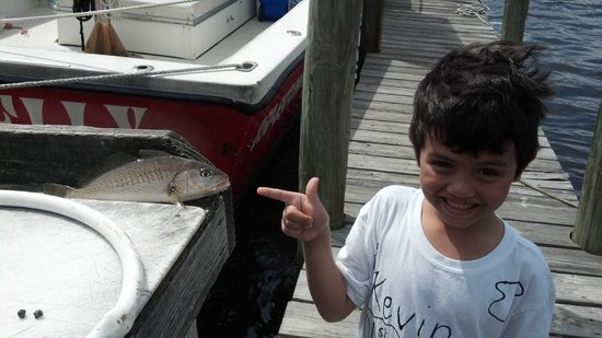 The Moorings at Carrabelle: These were his first fish caught right from The Morrings dock.
