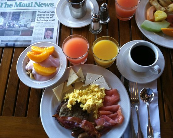 Sheraton Maui Resort Spa Cj S Breakfast At The Black Rock Restaurant