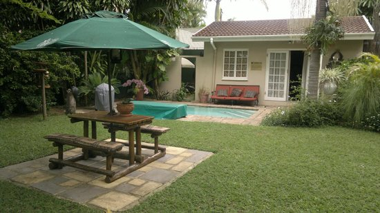 Acorn B&B in Durban: View of my room from the lawn