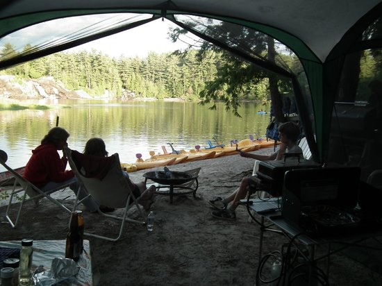 High Falls Cottage Resort: View of the Falls from our Tent