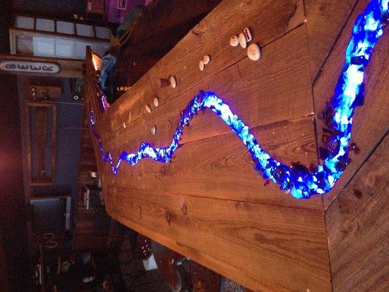Paddler's Pub at Mountain Whitewater Descents: raft down the bar top