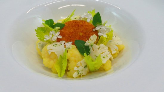 Hourglass Brasserie: Cod, Parmesan, Textures Of Cauliflower & Madras Curry