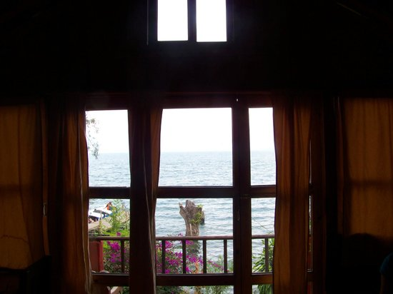 Posada Schumann: View from inside the room