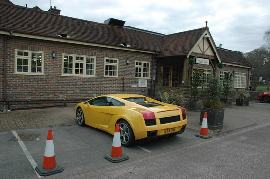 The Bell Inn: reserved parking for us