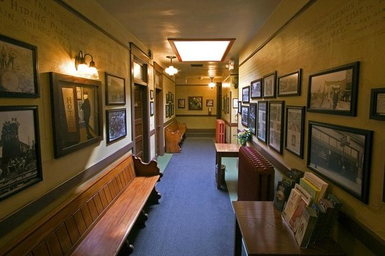 Historic pictures and artwork in hallway - Olympic Club