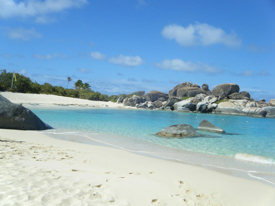 New Horizons & Breakaway Charters: Beach at the Baths (Devil's Bay beach, I believe)
