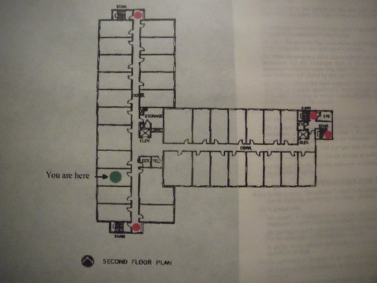 Executive Royal Hotel Calgary: I was in room 244.  There are 2 elevators and I took the wrong one. Confusing!