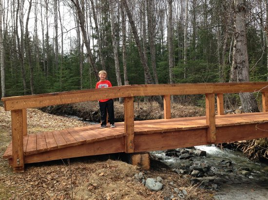 Bowman's Bear Creek Lodge: New bridge to new cabin