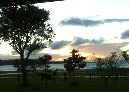 The end of the day from the Beachcomber Motel:Kawakawa Bay 18 May 2013.