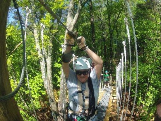 Highlands Aerial Park: Having a blast being a first-time zip liner!