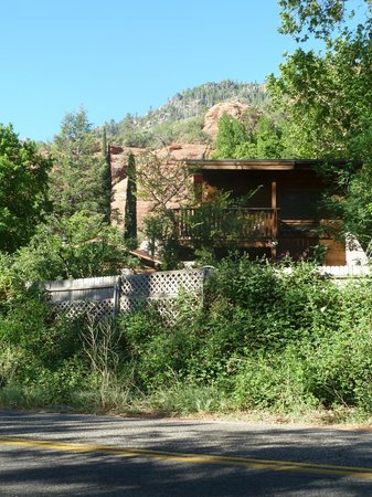 The Canyon Wren - Cabins for Two: View from across Hwy. 89A