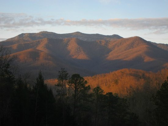 Buckhorn Inn: The mountains have many moods--this is the view from the inn at early morning.