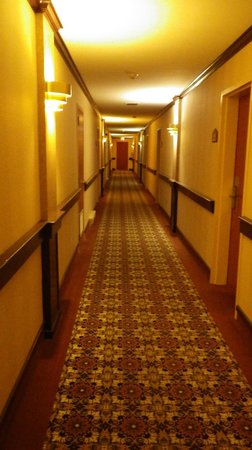 Ramada St. John's: Drab and dated hallway leading to room