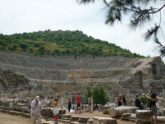 Ephesus, Theatre - Picture of Ephesus Shuttle Day Tours ...
