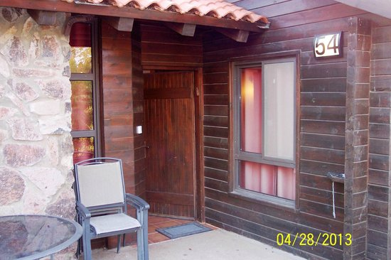 Merom Golan Resort Village: Each duplex cabin has a semi-private patio for rest and relaxation