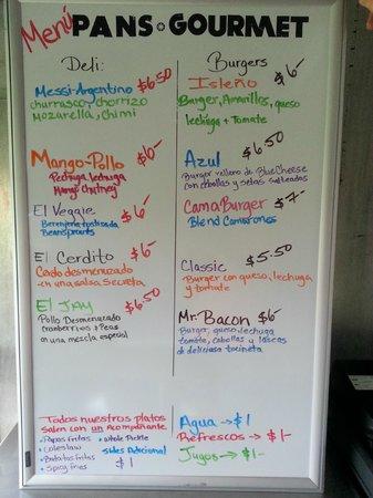 Pan's Gourmet: el menu