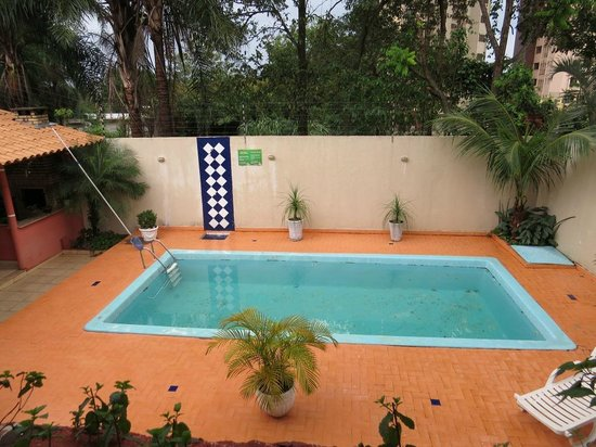 Casa do Turista : Pool area from dining room window