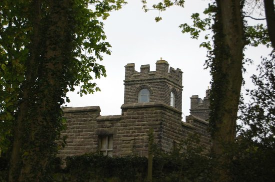 Riber Hall: view of Riber Castle