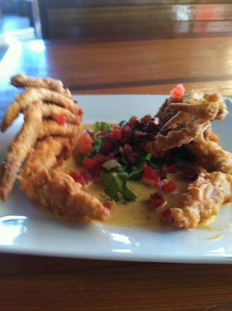 Marlin Moon Grille: Soft Shell Crab BLT with Creole Mustard Sauce