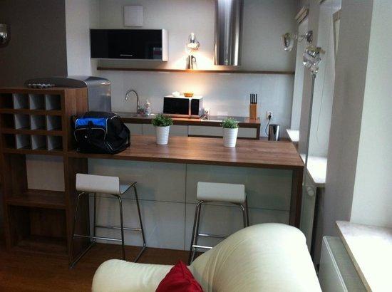 4 Seasons Apartments Cracow : Kitchen area :)