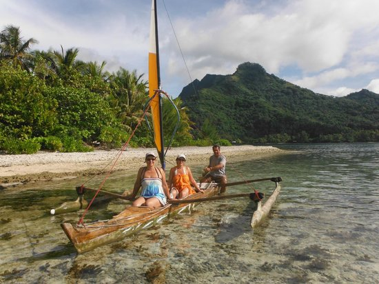 Green Lodge: pirogue a voile avec johnny