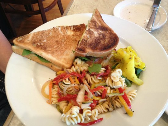 Table 34: Their version of a BLT with pasta salad (lunch menu)