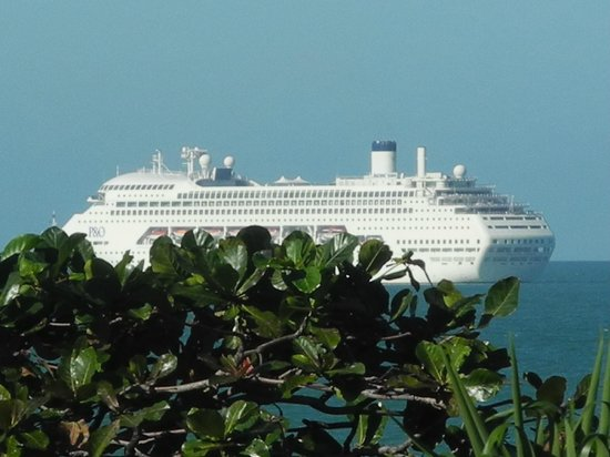 "Roydon Beachfront Apartments : P & O ""parked off"" Trinity Beach, whilst visiting Cairns"