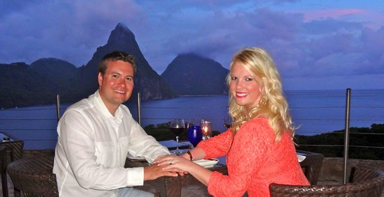 Jade Mountain Resort: Dinner