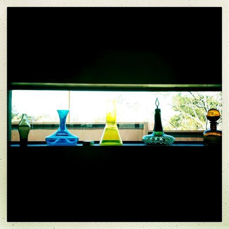 Mojave Sands: Glass vases in my suite