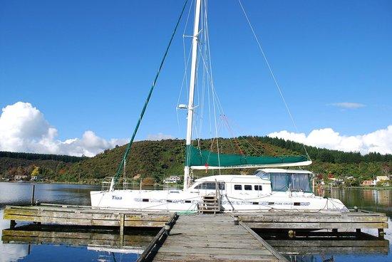 VR Rotorua Lake Resort: catamaran we went on
