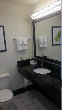 Fairfield Inn Manhattan: Bathroom was actually quite spacious but towels were very thin.