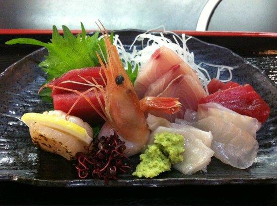 Nikunoyamamoto: Niku no Yamamoto Sashimi Lunch Closeup
