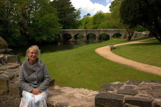 Antrim Castle Gardens: A bridge ......