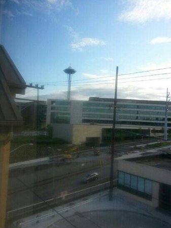 Four Points by Sheraton Downtown Seattle Center: space needle from room (not great but I've seen worse views from hotel rooms)