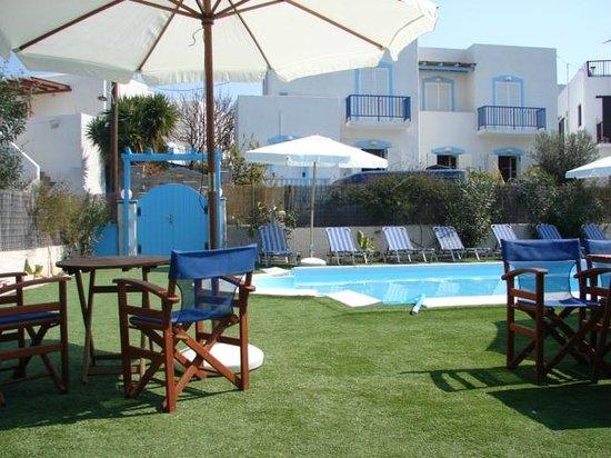 Villa Katerina Studios : the swimming pool area