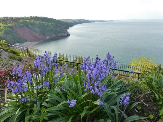 The Downs, Babbacombe: easy access walk all along the cliff top and a lift down to the beach below.
