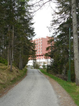 Hotel SOREA TRIGAN: Small path leading to the hotel