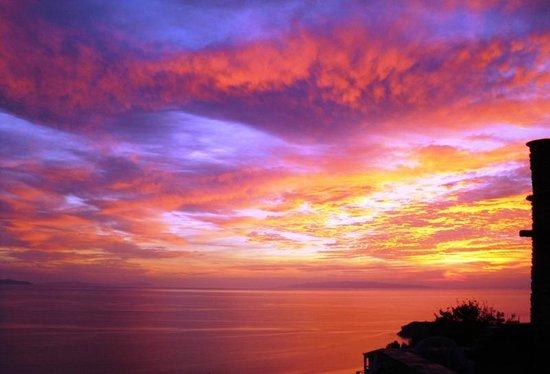 Aegean Castle: SUNSET FROM CASTLE
