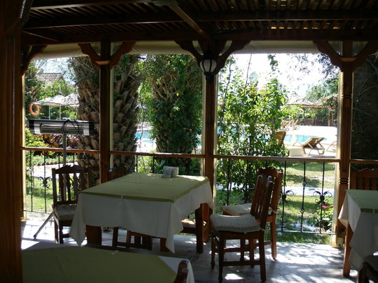 Hotel Asur /Assyrian Hotel: Dining area overlooking pool
