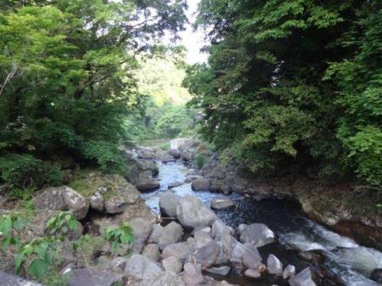 Ryukeien : 露天風呂の裏に流れる黒川 せせらぎを聞きながらの風呂も一興です。